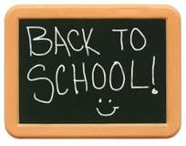 返回黑板儿童微型s学校 库存图片