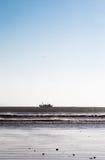 返回从巡航的渔船 essaouira摩洛哥 库存照片