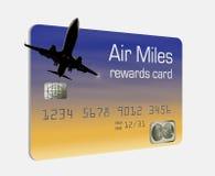 这一张普通飞行英里奖励信用卡 向量例证