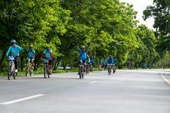这个事件为妈妈事件的自行车准备从泰国 免版税库存图片