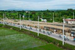 这个事件为妈妈事件的自行车准备从泰国 库存照片