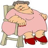 肥胖夫人 图库摄影