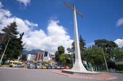 这个十字架位于La卡罗来纳州公园和它 免版税图库摄影