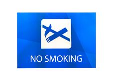 这个图象是禁烟标志 免版税库存照片
