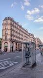 巴黎â第15个区街道  免版税库存图片
