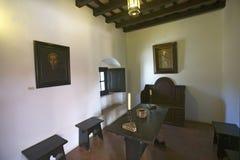 这个小的细胞是美国出生的地方,它是克里斯托弗・哥伦布和方济会修士见面了并且祈祷了15世纪Fr的地方 库存图片