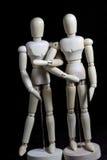 这个机器人移动象人 库存图片