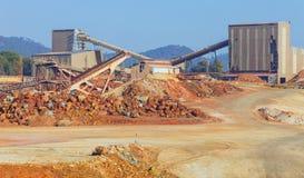 这个磨房位于里约Tinto矿,韦尔瓦省,西班牙 库存图片