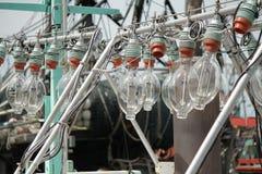 这些光使用在拘捕运载的领带期间在海洋 图库摄影