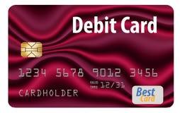 这在白色背景隔绝的一张普通银行借项卡片 皇族释放例证