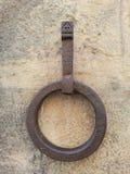金属通道门环被刻记的女性 库存图片