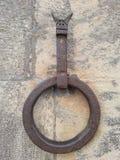 金属通道门环被刻记的男性 库存照片