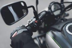 这是一辆现代电摩托车 免版税库存照片