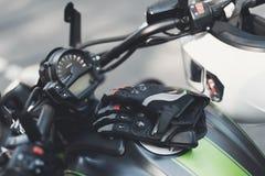 这是一辆现代电摩托车 图库摄影