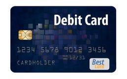 这是在白色背景隔绝的一张普通银行借项卡片 向量例证