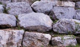 这是墙壁石头 库存图片