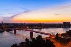 这是彩虹桥梁 库存照片
