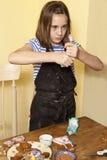 这是我怎么装饰我的姜饼 库存图片