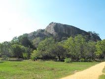这是斯里兰卡的图象美丽的YAPAHUWA岩石堡垒 图库摄影