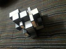 这是未解决的这是立方体比赛 免版税库存照片