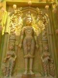 这是菩萨一个独特的雕象  库存照片