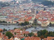 这是资本和大城市在捷克 免版税库存照片