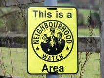 这是邻里监督组织地区标志 库存图片