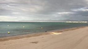 这是阿雷纳尔海滩在早晨 影视素材
