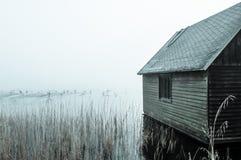 黎明的湖 图库摄影