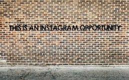 这是instagram片刻 免版税库存图片