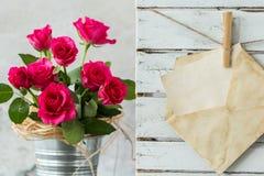 这朵卡片和花是为您母亲 免版税库存图片