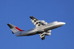 这架飞机在都伯林住 库存图片