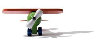 这架飞机是玩具。 免版税库存照片