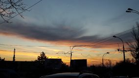 这美妙的天空同时意味结束和一开始 免版税图库摄影