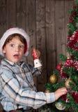 这里圣诞老人 库存图片