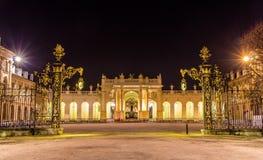 这里弧如被看见从Place de la卡里尔-南希 免版税库存照片