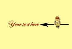 这里您的文本 免版税库存图片