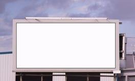 这里您的消息删去城市广告牌标志广告时间 库存照片