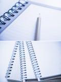 这里您笔记本螺旋的tex 图库摄影