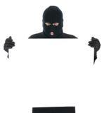 这里您被屏蔽的消息的窃贼 免版税库存图片