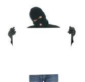 这里您被屏蔽的消息的窃贼 免版税库存照片
