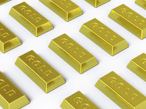 这里收集金子推进 免版税图库摄影