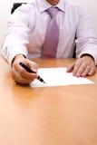这里签名写您 库存图片