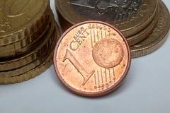 这里1 2 5枚分分硬币欧元 免版税库存图片