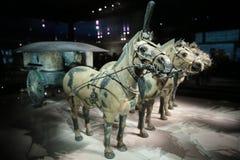 中国赤土陶器战士和马博物馆 免版税库存照片