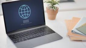 进入互联网计算机保密性系统保护概念 免版税库存照片