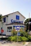 进入公司盐Aigues-Mortes 免版税库存照片
