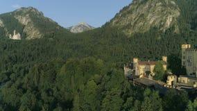 进入国王城堡德国巴伐利亚空中4k 股票录像