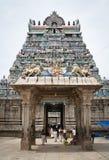 进入的印度人寺庙 免版税库存图片