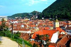 进城,典型的都市风景,布拉索夫, Transilvania 库存图片
